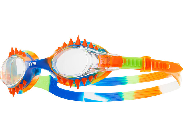 TYR Swimple Spikes Tie Dye Goggles Kinder clear/orange